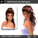 A&A Beverly Hair Mahogany (Special Color). Curly half-updo.