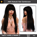 A&A Katsuki Hair Darkbrown, long straight flexi hairstyle with bangs. Special color!