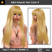 A&A Katsuki Hair Gold Blonde (Color 9), long straight flexi hairstyle with bangs.