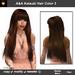 A&A Katsuki Hair Auburn (Color 3), long straight flexi hairstyle with bangs.