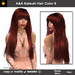 A&A Katsuki Hair Flame (Color 6), long straight flexi hairstyle with bangs.