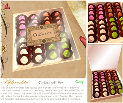 Aphrodite cookies gift box (boxed)