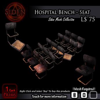 Hospital Bench - Seat