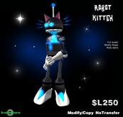 AB Robot Kitteh Avatar - Black and White