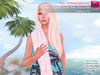 Full Perm Mesh Ladies Towel over the shoulder AO scripted - Fashion Kit