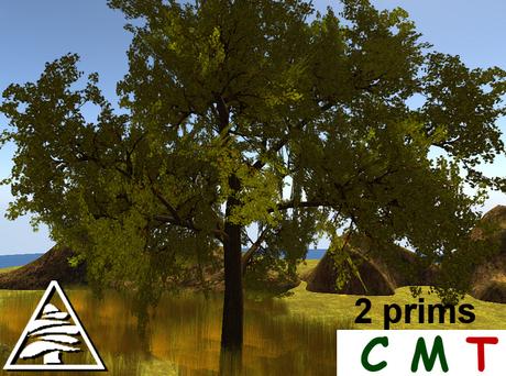 tree green 2 prims - COPY MODIFY