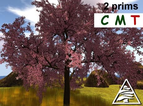 tree pink 2 prims COPY MODIFY