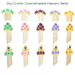 [ity.] Floral Hair Pins (15 pins/3 styles/5 colors)