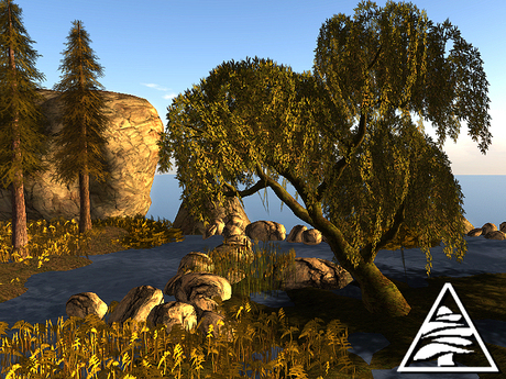 willow curved animated 4prims M/T