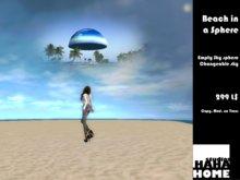 Beach in a sphere