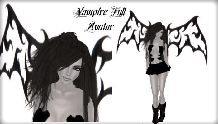 Valeria - Vampire / Goth Complete Avatar