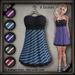 20.FIVE Mesh Summer Dress - Striped