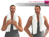 Full Perm Mesh Men's Towel Around the Neck AO scripted- Fashion Kit