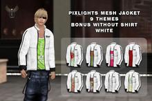 PIXLIGHTS LEATHER JACKET WHITE