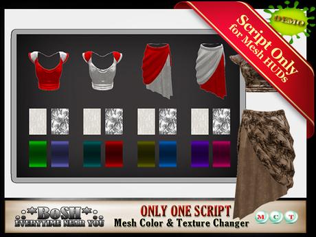 .:*BoSH*:. Mesh Color & Texture Changer DEMO