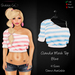 ~Claudia Mesh Top Blue - Shabby Cat~