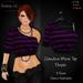 ~Claudine Mesh Top Purple - Shabby Cat~