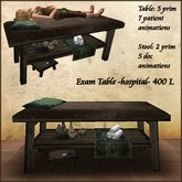 hospital,physician Exam Table,with 7 patient and 5 doc animations