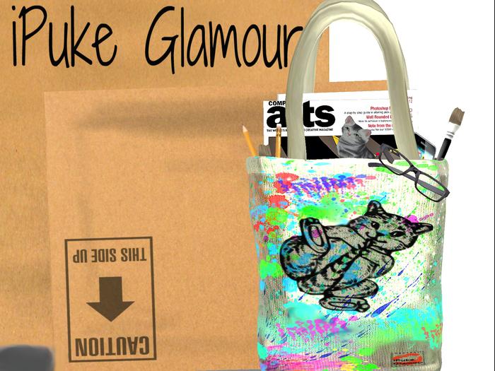 iPuke Glamour - CAT Art Tote