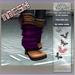 =KKC!= MESH Wedge Boots - Brown n Purple Leather