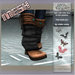 =KKC!= MESH Wedge Boots - Brown n Gray Leather