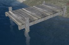Weathered Wooden Boat Dock (MT)