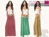FULL PERM CLASSIC RIGGED MESH Summer Elastic Low Drop Waist Ruffled Maxi Long Skirt - 5 TEXTURES
