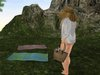 Dutchie mesh wicker beach bag decorational and wearable with bento hand pose