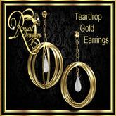 Teardrop Earrings - Gold (Boxed)