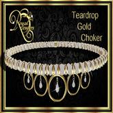 Teardrop Choker - Gold (Boxed)