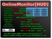 Online Monitor [HUD] ( online status indicator / online detector / online tracker / avatar online indicator )