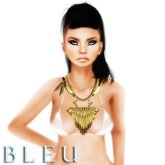 - B L E U - Dolly's Ram Necklace w/ optional chains *GOLD*