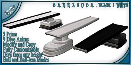 WaterWorks - Barracuda Diving Board BLACK/WHITE