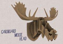 Cardboard moose head by Flightlesss