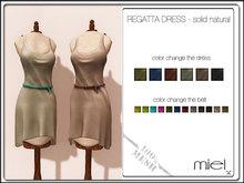 MIEL REGATTA DRESS - solid natural (MESH)