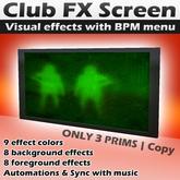Club Visuals Screen with BPM menu