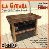 *Zinnias* La Gitana Kitchen Island MESH