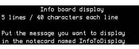info board 5 lines 40 digits each line