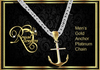 Anchor Necklace - Gold/Platinum (Boxed)
