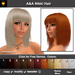 A&A Nikki Hair 11 Colors Variety Pack. Shoulder length straight flexi hairstyle with bangs.