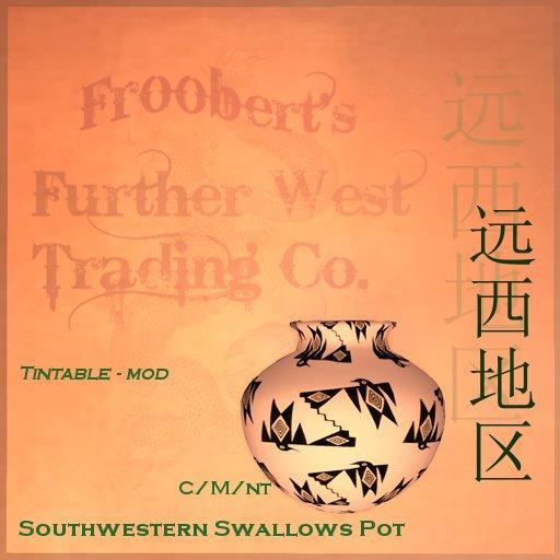 @DF@ Southwestern Swallows Pot