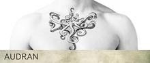 AUDRAN Unisex Collarbone Chest Tattoo 'Tentacled'