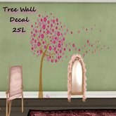 Pink Tree Wall Decal