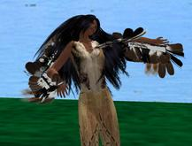 Ceremonial Native American Dance w Feathers