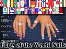 Flags of the World Fingernails - by Misha Fine Jewelry & Finger Nails