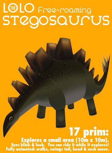 LOLO dinosaur - free-roaming stegosaurus