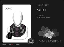 [ZD] MESH - Scarf for Women & Men with Resizer - DEMO