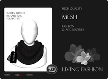[ZD] MESH - Scarf for Women & Men with Resizer - Black Knit
