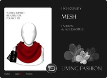 [ZD] MESH - Scarf for Women & Men with Resizer - Vibrant Red