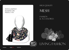 [ZD] MESH - Scarf for Women & Men with Resizer - Vintage Flowers